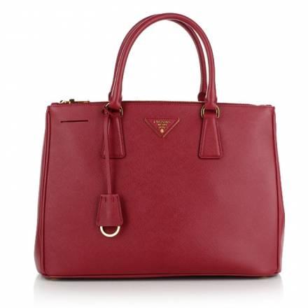 Prada Prada Borsa Shopping Saffiano Lux S Fuoco Handtaschen